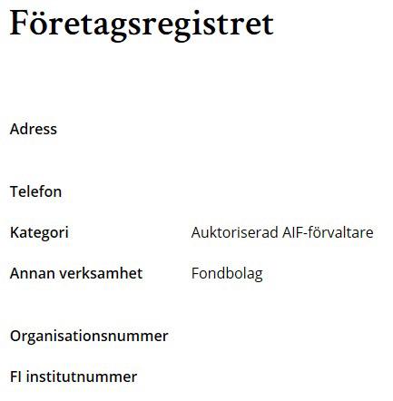 söka företag efter organisationsnummer